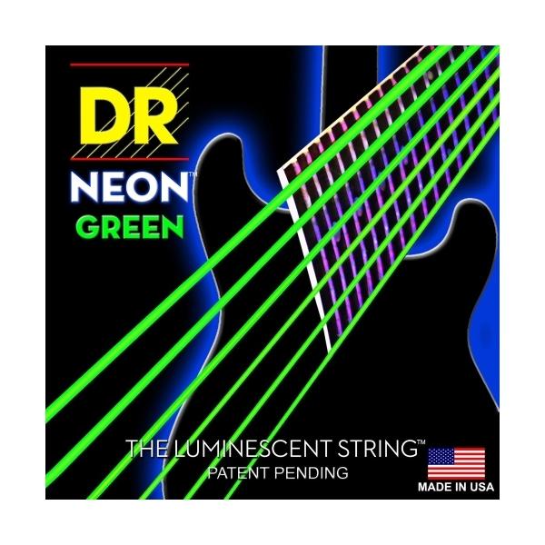 Dr Strings - Neon - [NGE-10] Corde luminescenti per chitarra Verdi .010-.046