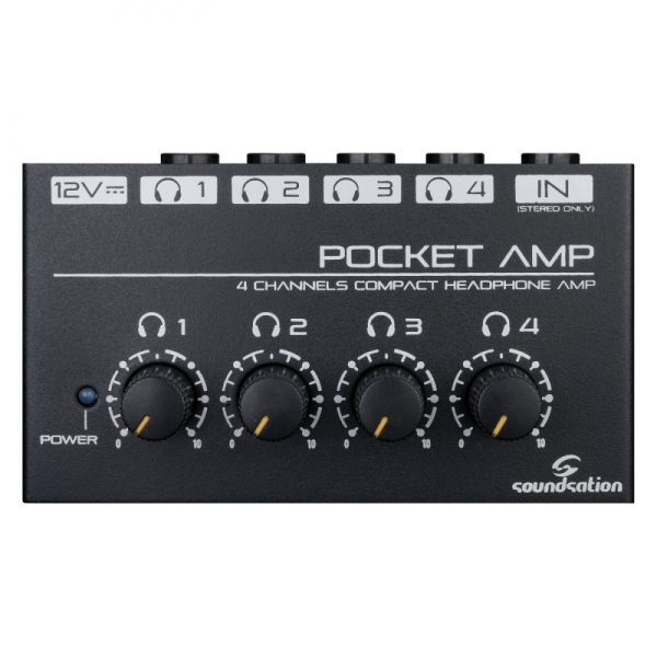 Soundsation - Mini amplificatore per Cuffie 4 CH. POCKET-AMP