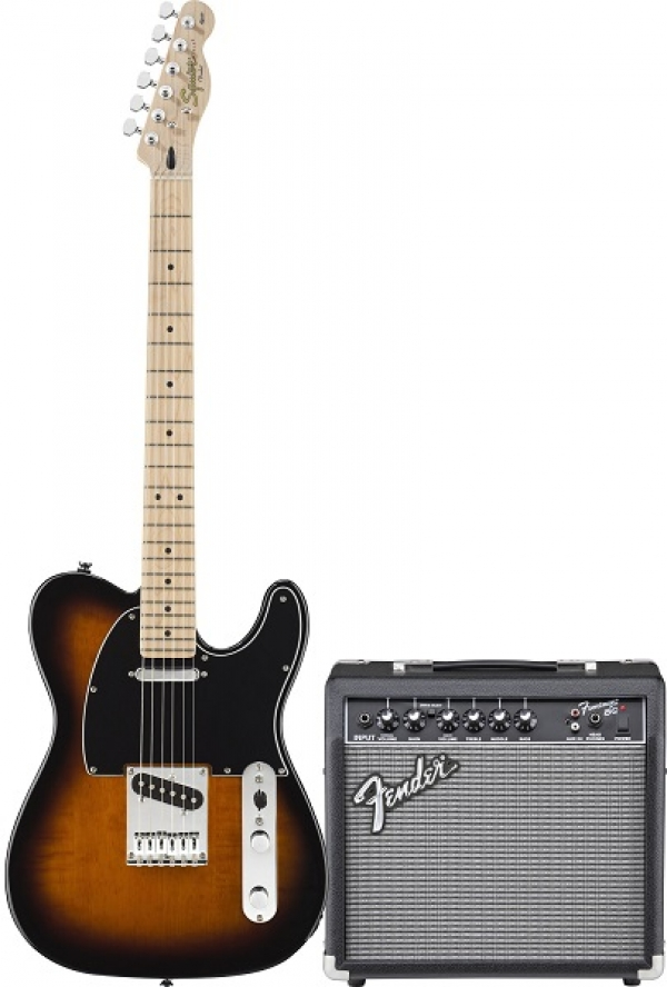 Fender - Squier Affinity - [0301618632-SQ.AF.TELE-PACK-15G-BSB] TELE BROWN SUNBURST con FENDER FRONTAMAN 15