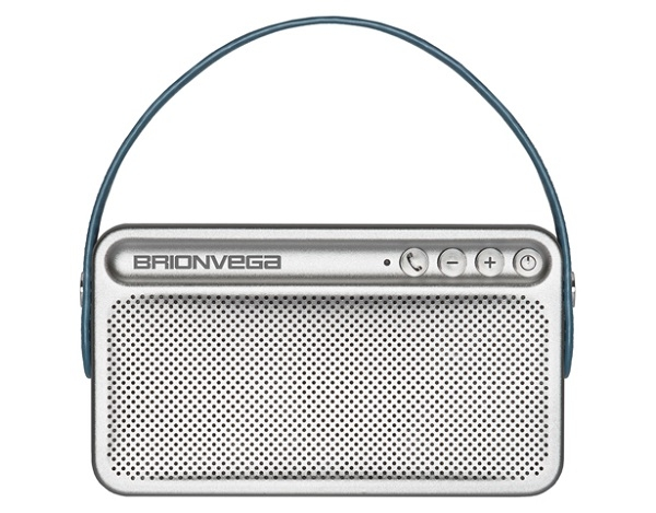Brionvega - [WEAR-IT-T] Speaker Bluetooth portatile con Borsa color Tabacco