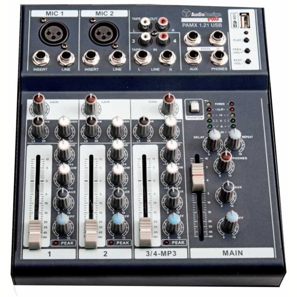 AudioDesign - [PAMX1.21 USB] Mixer 4 canali con lettore USB