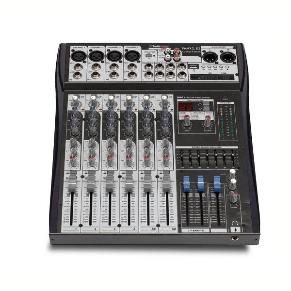 AudioDesign - [PAMX2.42 USB] Mixer 8 canali con effetti e registratore USB