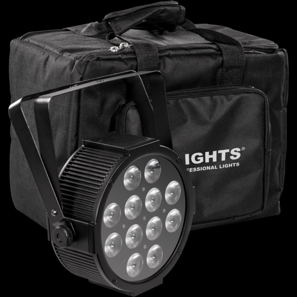 Prolights - [LUMIPACK12UQ] Kit di 4 fari led 12X8W RGBW LUMIPAR12UQ + accessori