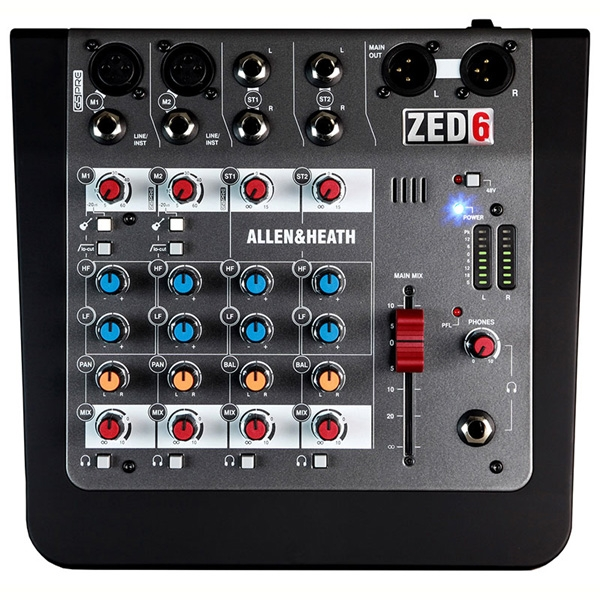 Allen & Heath - [ZED-6] Mixer 6 ingressi