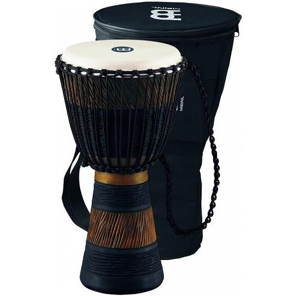 Meinl - [ADJ3-L+BAG] Djembe in legno stile africano 12 pollici, marrone nero
