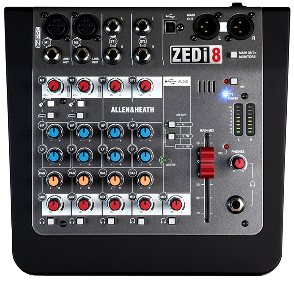 Allen & Heath - [ZEDi-8] Mixer 8 ingressi con USB