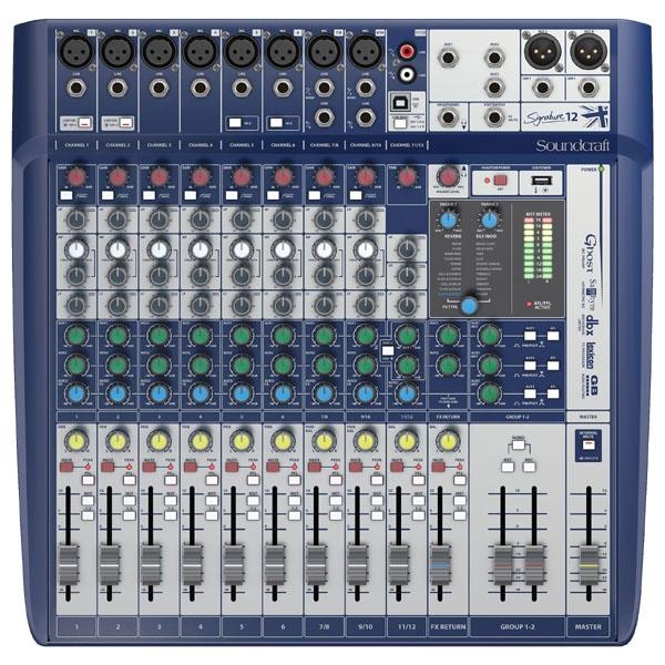 Soundcraft - [SIGNATURE 12] Mixer 12 canali con effetti