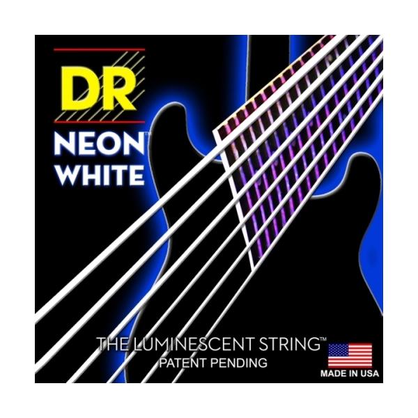 Dr Strings - Neon - [NWE-10] Corde luminescenti per chitarra Bianche .010-.046