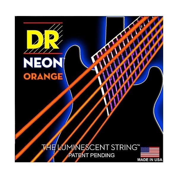 Dr Strings - Neon - [NOE-10] Corde luminescenti per chitarra Arancione .010-.046