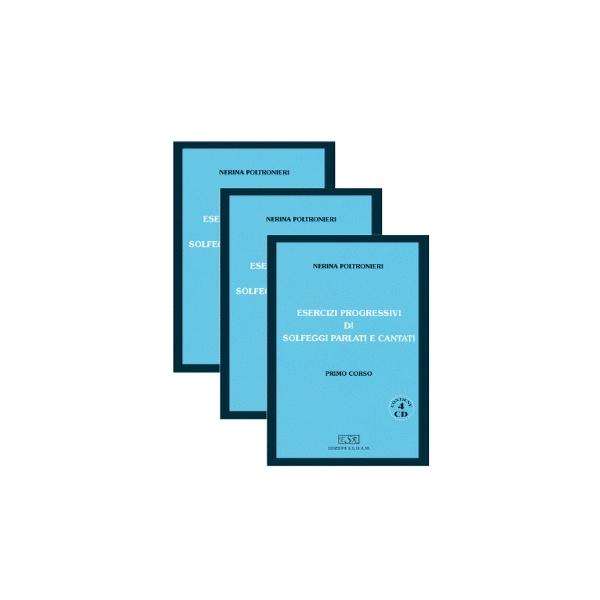 Edizioni SEDAM - [ESR108.2] Poltronieri - Esercizi Progressivi Solfeggi Parlati e Cantati (4CD)