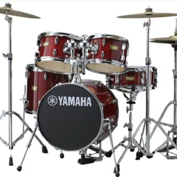 Yamaha - [JK6F5CRSET] Batteria junior Manu Katché signature, Cranberry red