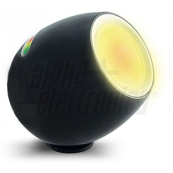 Alpha Elettronica - [JO383N] Lampada da tavolo Led decorativa RGB, colore nera