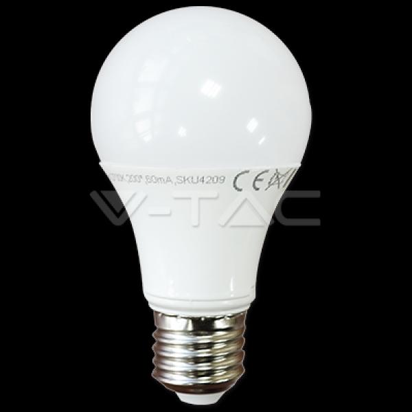 V-Tac - [VT-2007] LED BULB 7W E27 A60 THERMOPLASTIC 4500K