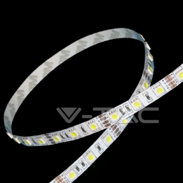 V-Tac - [SKU-2143] STRISCIA  LED 5050 MONOCOLORE BOBINA 5 MT.COLORE BIANCO NATURALE