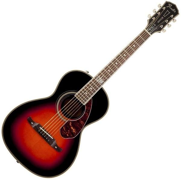 Fender - [0968551998-RM] Acustica Ron Emory Loyalty Parlor Vintage Sunburst