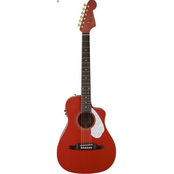 Fender - [0968008040-MALIBU-CE] Chitarra acustica Fiesta Red