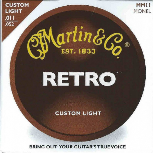 Martin - [MM11] SET CORDE RETRO CUSTOM LIGHT
