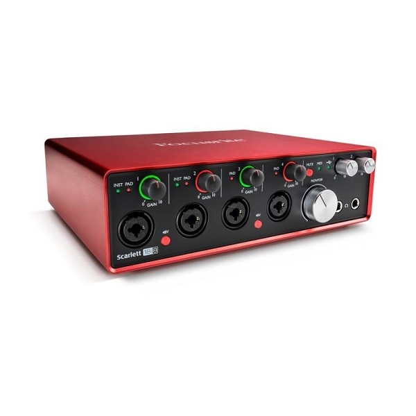 Focusrite - [Scarlett 18i8-2° generazione] Interfaccia audio usb, 18in e 18out