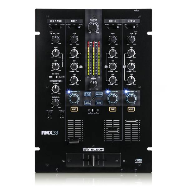 Reloop - RMX-33I - Mixer DJ Digitale - 3+1 canali