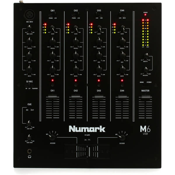Numark - M6USB-  MIXER DJ 4 canali