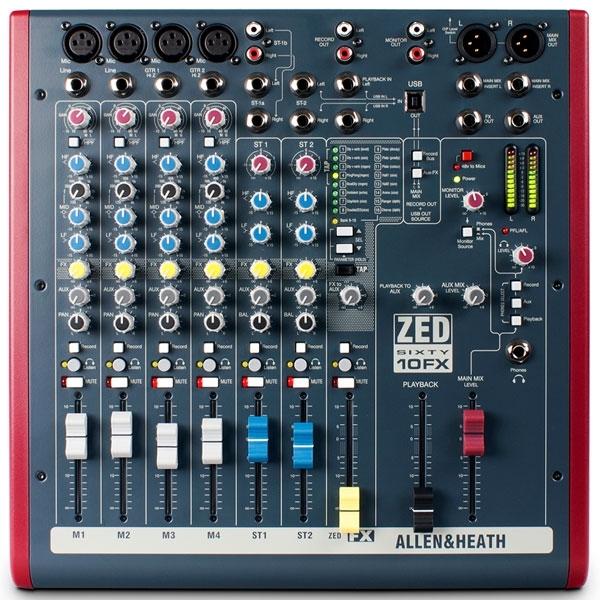 Allen & Heath - [ZED60-10FX] Mixer 10 canali con effetti