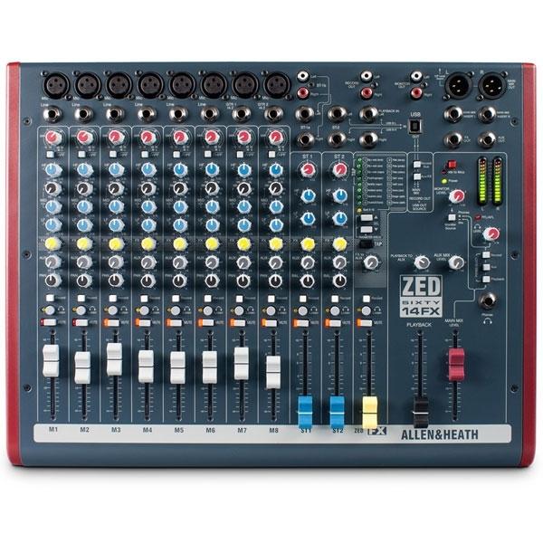 Allen & Heath - [ZED60-14FX] Mixer 14 canali con effetti