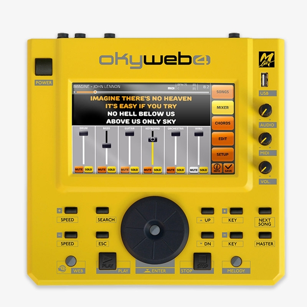 M-Live - [OKYWEB 4] Workstation touch screen per file e basi musicali MIDI/MP3