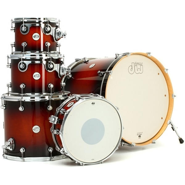 D.W. - DW Design Series 5-Piece Kit - Batteria Acustica Tobacco Burst