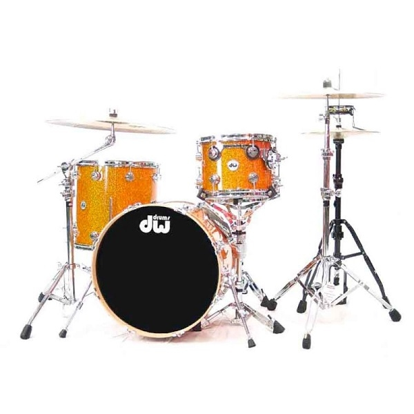 D.W. - Batteria acustica 3 pezzi Series Burnt Orange Glass FinishPly™
