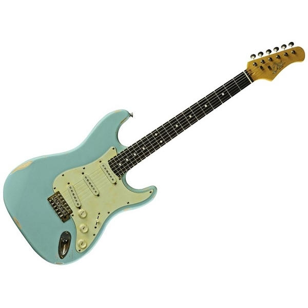 Eko - S-300 Relic Daphne Blue chitarra elettrica