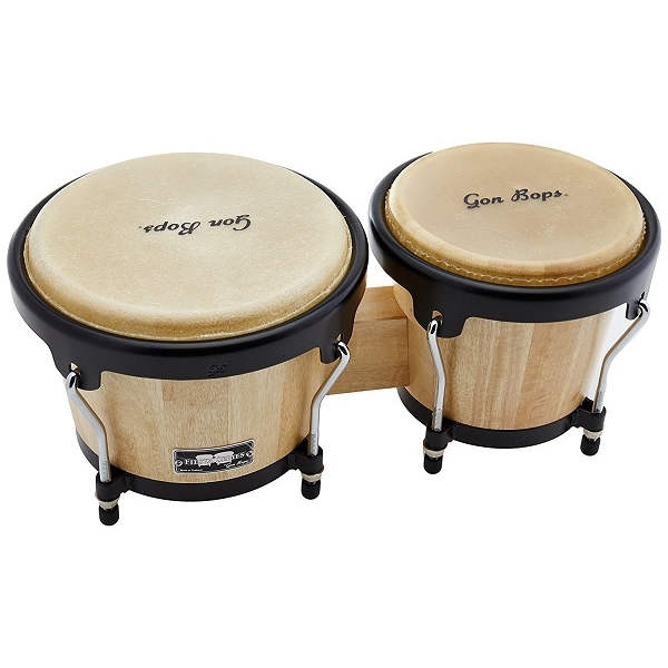 Gon Bops - Fiesta Series Bongo, Natural with Black Hardware