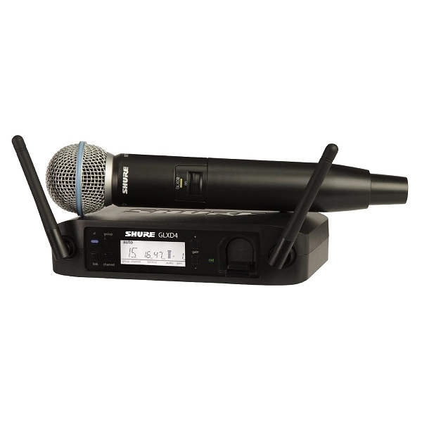 Shure - Beta - GLXD24E/B58 Beta58 Wireless Digitale con Beta 58