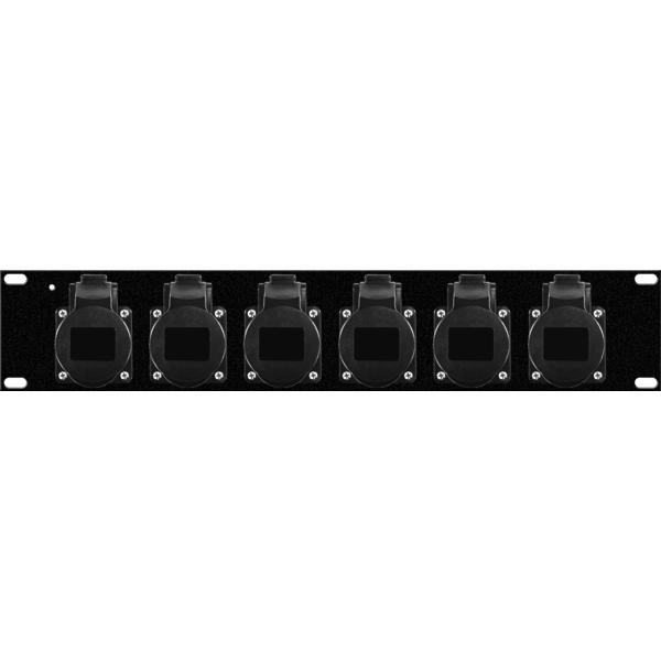 GDE - [961214] Modulo rack 6 prese di rete CEE 16A