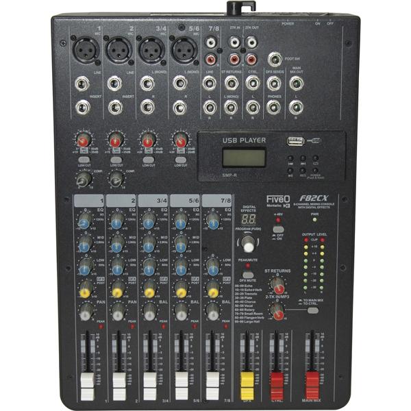 FiveO by Montarbo - [F 82X] Mixer 8 canali con effetti
