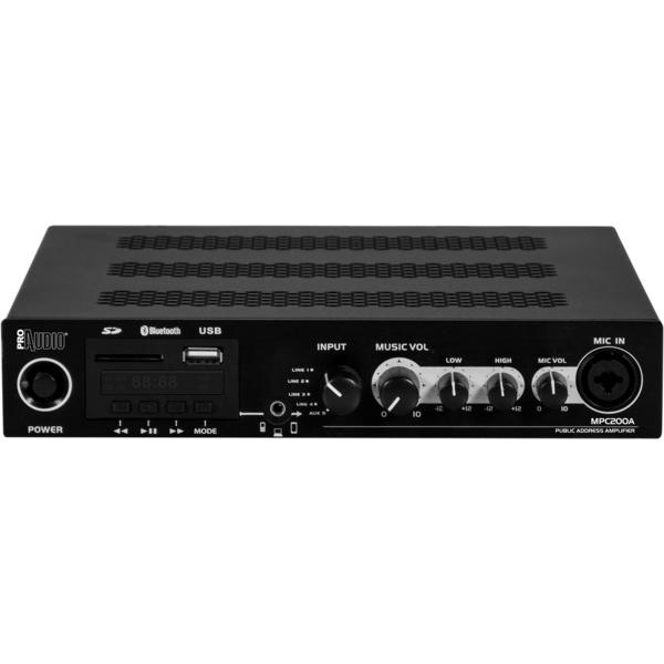 ProAudio - [MPC200A] Lettore multimediale amplificato.2X300W/4
