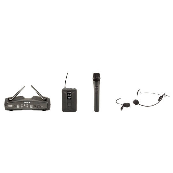 Proel - WM600DKIT - MICROFONO & SISTEMA WIRELESS DUAL CHANNEL