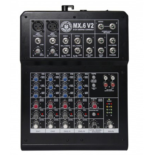 Topp Pro - [MX.6 V2] Mixer 6 canali