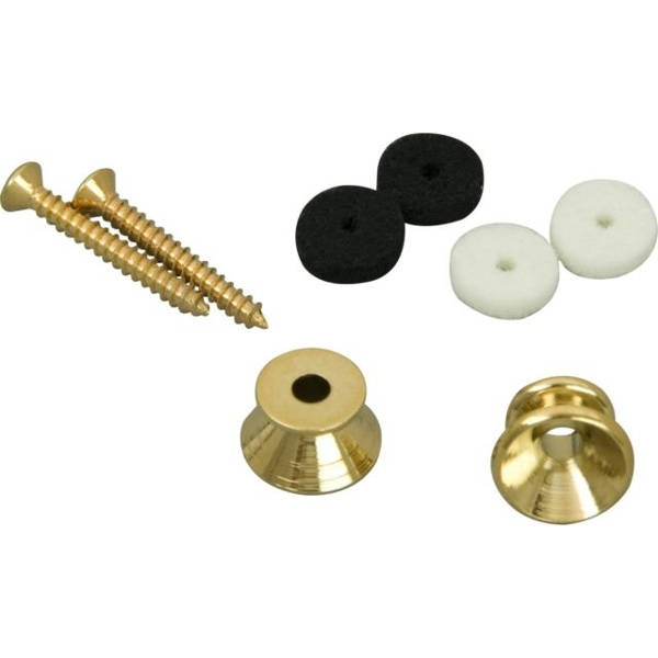 Fender - 0018916049 BUTTON STRAP GOLD KIT 2P