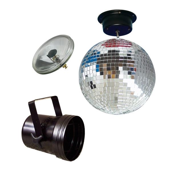 American DJ - [MBS-300 MIRRORBALLSET 30] sfera a specchio con faro