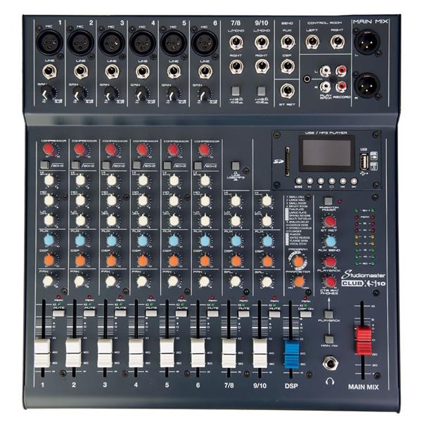 Studiomaster - [CLUB XS10] Mixer 10 canali con effetti USB MP3