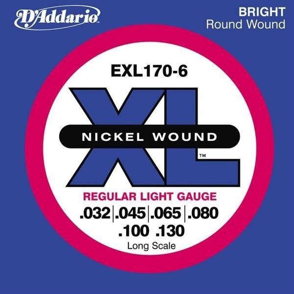 D'Addario - JDEXL170-6 SET BASS XL LONG 32-130 6STR