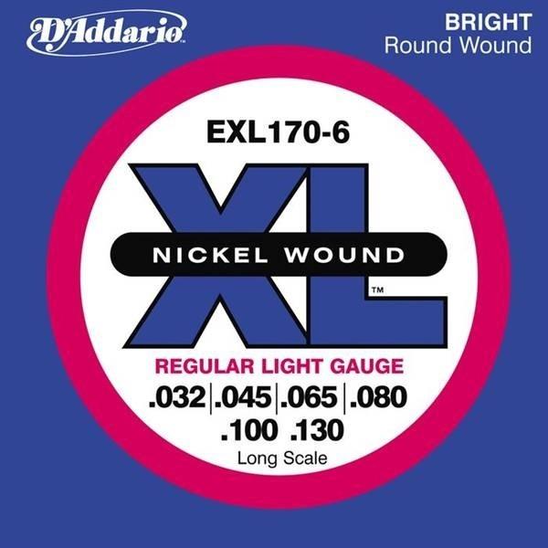 D'Addario - JDEXL170-6 SET BASS XL LONG 32-130 6STR