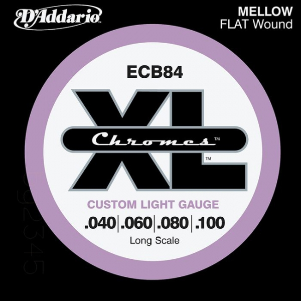 D'Addario - JDECB84 BASSO ELET.CHROMES FLAT 40-100 L