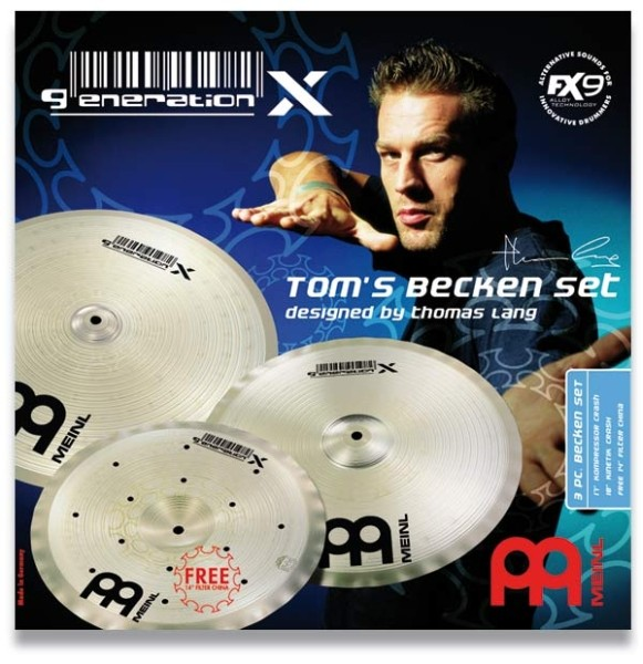 "Meinl - Generation X - Tom's Becken Set 14""/17""/18"""