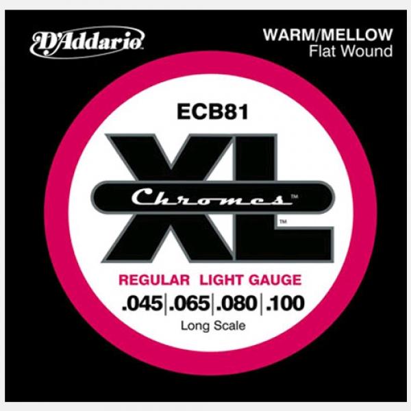 D'Addario - XL Chromes Flat Wound - ECB81 muta Bass .045-.100 Long