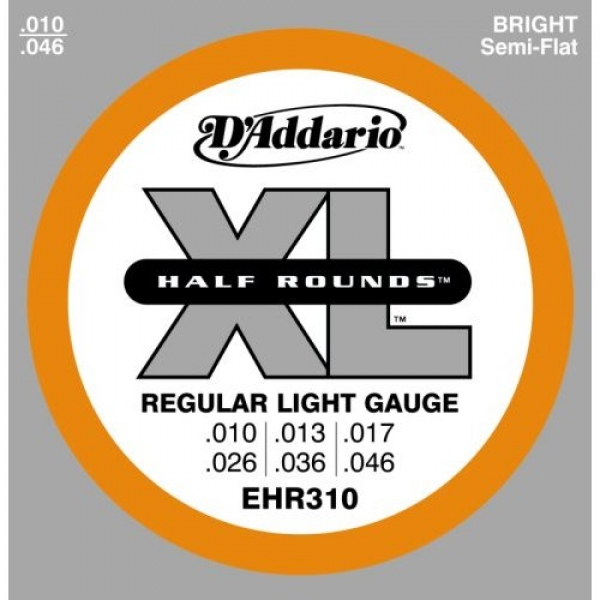 D'Addario - Half Round Heat Treated Stainless Steel - EHR310 muta Regular Light .010-.046