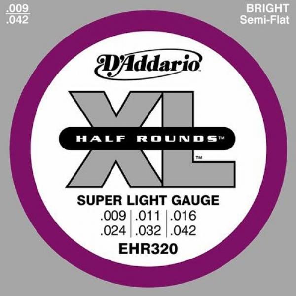 D'Addario - Half Round Heat Treated Stainless Steel - EHR320 muta Super Light .009-.042