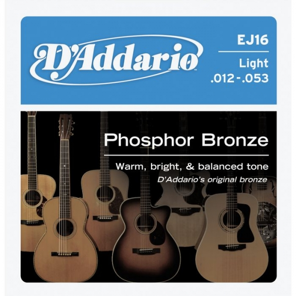 D'Addario - Phosphor Bronze Round Wound - EJ16 muta Light .012-.053