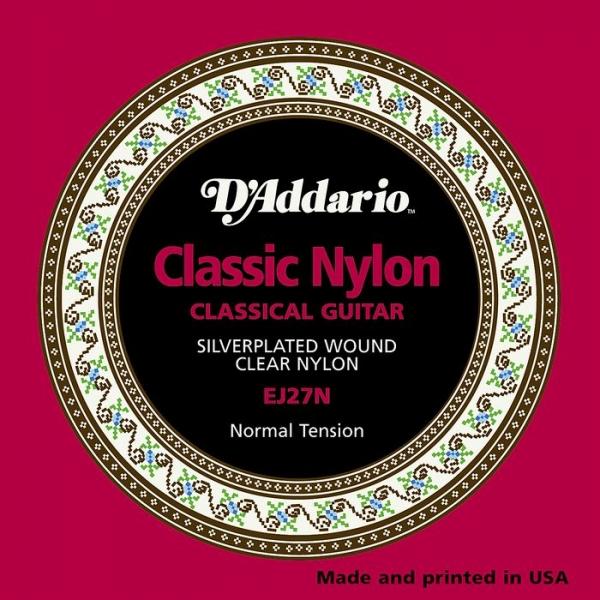 D'Addario - D'Addario Classic - EJ27N muta Silver Wound/Clear Nylon – Student – Normal