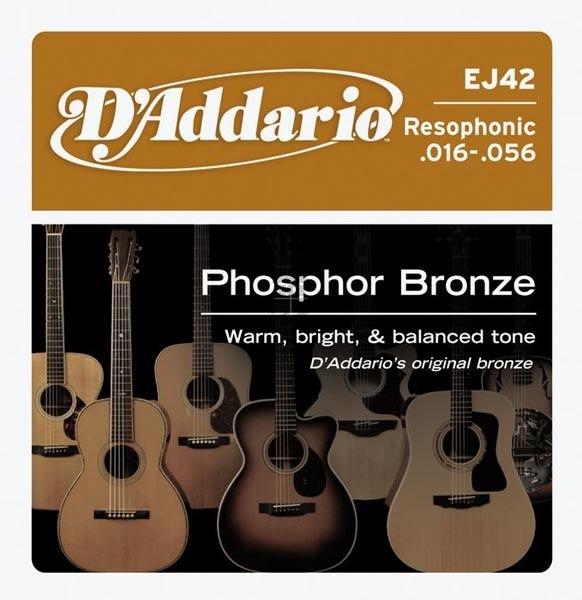 D'Addario - D'Addario Classic - EJ42 muta Resophonic Guitar .016-.056